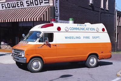 WHEELING FD WV  COMMUNICATIONS VAN  1973  DODGE TRADESMAN - FD BUILT