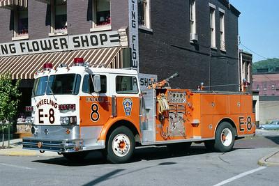 WHEELING FD  WV  ENGINE 8  1978  SUTPHEN   1500-500