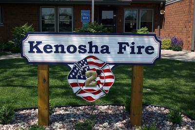 KENOSHA FD WI  STATION 2  SIGN