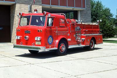 KENOSHA FD WI  ENGINE 8  1964  PIRSCH   1000-500     87