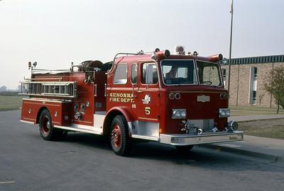 KENOSHA FD WI ENGINE 5  1974  PIRSCH   1250-500   MARK MITCHELL PHOTO