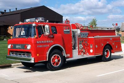 KENOSHA FD WI  ENGINE   FORD C - PIRSCH   1001