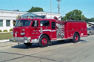 RACINE FD  ENGINE 9  1978  ALF CENTURY - 1988 CUSTOM FIRE   1250-500      CAB FROM TRACTOR TRAILER