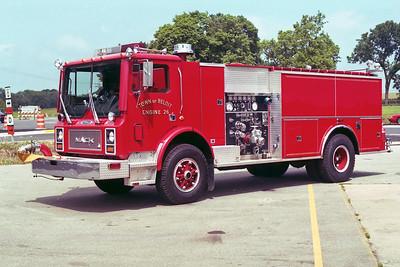 TOWN OF BELOIT FD WI   ENGINE 26  1981  MACK MC - PIERCE   1250-1500   E-1278