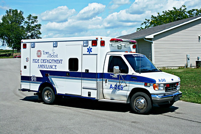TOWN OF BELOIT FD WI  AMBULANCE 245  1996  FORD E450 - ROAD RESCUE  NEW GRAPHICS