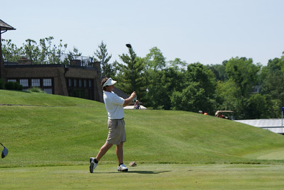 Brodie Williams tees off on the 10th at Springfield CC.