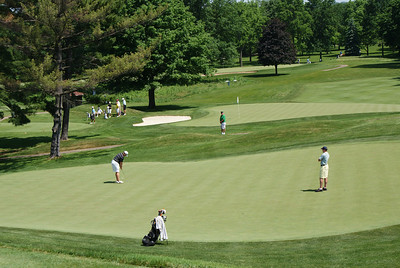 Rob Chappell, former University of Dayton stand-out, finishes up on the 15th at Springfield CC.
