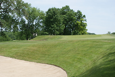 View from the cross-bunker in the fairway on the 8th hole at Springfield CC.