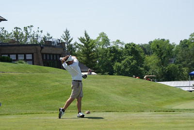 Brodie Williams, amateur from Lapel, Indiana, tees off on the par 4 10th at Springfield CC.