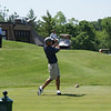 Steven Lee of Columbus, Ohio, tees off on the par 4 10th at Springfield CC.