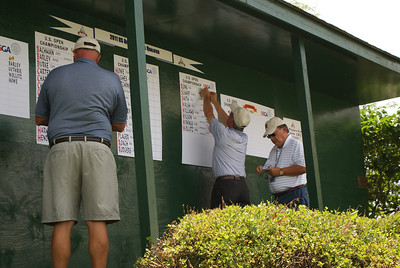 Scores being posted by our great volunteers!