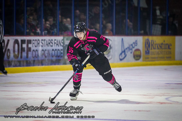 Pink In The Rink Night - Youngstown Phantoms vs Lincoln Stars at The Ice Box Arena in Lincoln NE - Brandon Anderson Photos - October 19, 2019