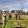Honoring a fallen comrade at a memorial service at Fort Stewart's Warriors Walk.