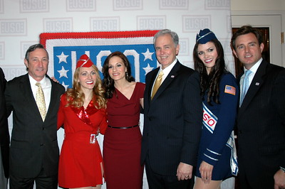 Kara Dioguardi ( Amirican Idol ) Mike Hallissy, BAE Systems and Brian Whting President CEO USO Metro NY