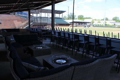 A view from within the first-base side Cabana Suites.