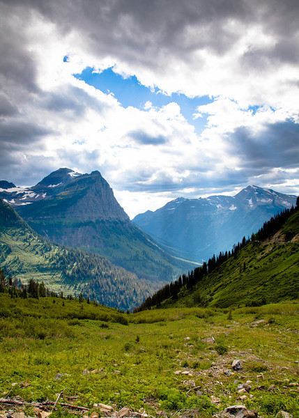 View of Mount Oberlin from near the Weeping Wall along the Going-to-the-sun Road