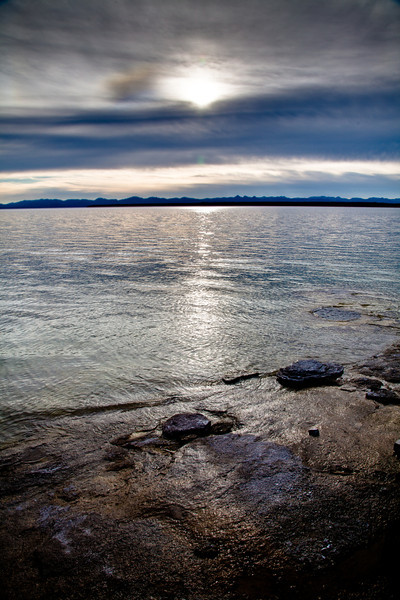View of Yellowstone Lake from the West Thumb Geyser Basin