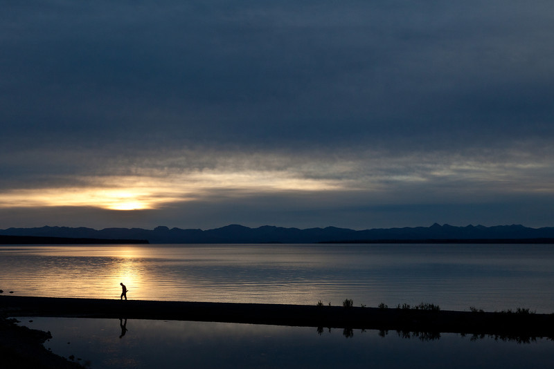Yellowstone Lake at Sunrise