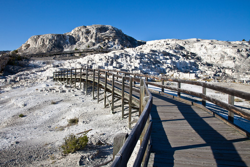 Walkway over the Mammoth Hot Springs Terraces