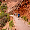 Hikers along the trail to Angel's Landing