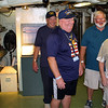 USS Dace veterans inside the USS Becuna