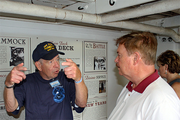 Rex and Phil inside the USS Olympia
