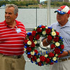 This wreath is laid to honor lost shipmates