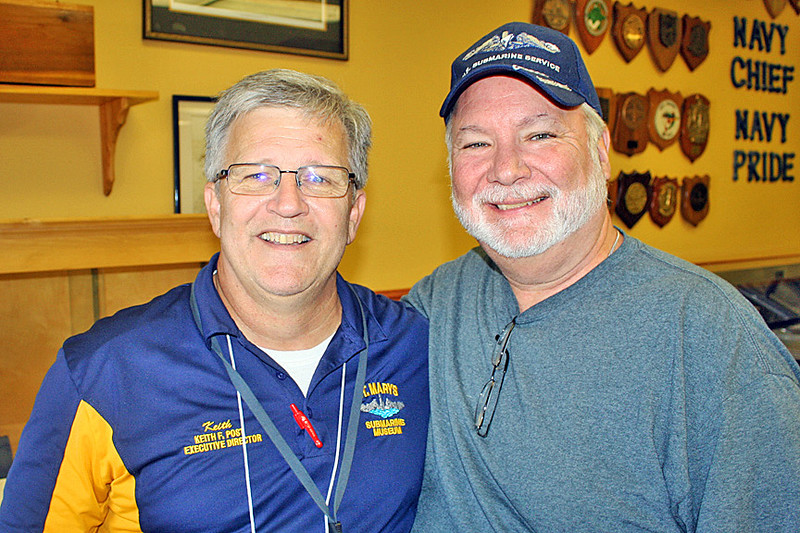One of the highlights of the reunion was the USS West Virginia tour. I took this picture of Keith and Reese inside the CPO (Goat Locker) Club.