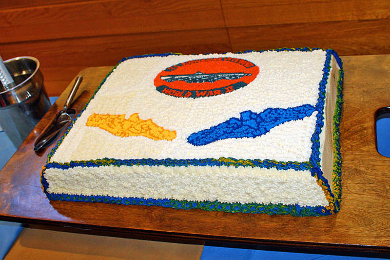 Impressive cake for the veterans at the Base Galley
