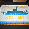 An impressive cake was made for the USS Dace veterans for the banquet.