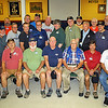 Group shot of USS Dace veterans inside the CPO (Goat Locker) Club