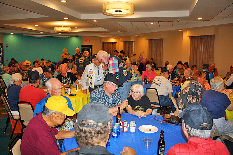 Veterans at the BBQ dinner