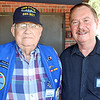 The gentleman pictured with Phil is the oldest living USS Dace veteran.