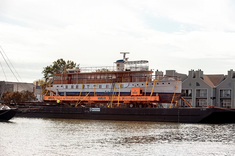 1925 - 104ft. - Presidential Yacht USS SEQUOIA  -  10/12/2019  -  Cambridge, Md - leaving on the 13th for Belfast, Maine to be restored.  Story in comment link below.
