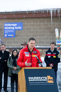 Luke Bodensteiner, Executive Vice President, Athletics at USSA The Park City liquor store holds a press conference as USSA partners with Parents Empowered, Sumit County and the State of Utah to prevent underage drinking.  Photo: USSA