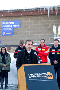 Jack Thomas, Park City Mayor The Park City liquor store holds a press conference as USSA partners with Parents Empowered, Sumit County and the State of Utah to prevent underage drinking.  Photo: USSA