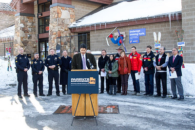 Salvador Petilos, DABC Executive Director The Park City liquor store holds a press conference as USSA partners with Parents Empowered, Sumit County and the State of Utah to prevent underage drinking.  Photo: USSA