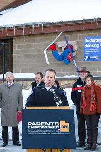 Wade Carpenter, Park City Chief of Police The Park City liquor store holds a press conference as USSA partners with Parents Empowered, Sumit County and the State of Utah to prevent underage drinking.  Photo: USSA