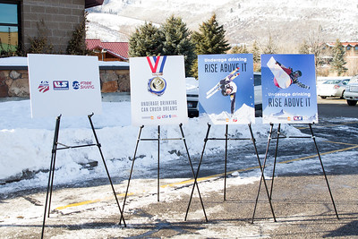 The Park City liquor store holds a press conference as USSA partners with Parents Empowered, Sumit County and the State of Utah to prevent underage drinking.  Photo: USSA