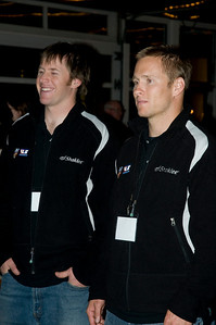 "2009 Shaklee Energy Chews launch party, Chelsea Piers, New York City  Marco Sullivan, U.S. Ski Team Alpine and Jeret ""Speedy"" Peterson, U.S. Ski Team Aerials October 28, 2009  Photo: Katie Perhai/USSA"