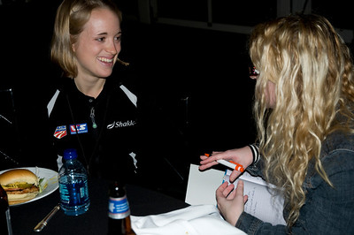 2009 Shaklee Energy Chews launch party, Chelsea Piers, New York City  Liz Stephen, U.S. Ski Team Cross Country October 28, 2009  Photo: Katie Perhai/USSA