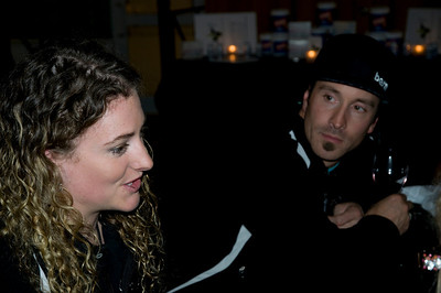 2009 Shaklee Energy Chews launch party, Chelsea Piers, New York City  Stacey Cook, U.S. Ski Team Alpine and Seth Wescott, U.S. Snowboarding Snowboardcross October 28, 2009 Photo: Katie Perhai/USSA