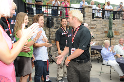 Sponsors, licensees and suppliers join Olympic athletes at the U.S. Ski Team and U.S. Snowboarding's 2010 Partner Summit reception at Zoom on Main Street in Park City, Utah. July 20, 2010 Photo © Scott Sine