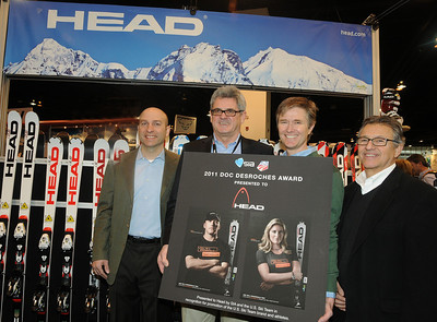 USSA Chief Revenue and Marketing Officer Andrew Judelson, Klaus Hotter, Director of Head Winter Spors, John Rucker, DIrector of Marketing and Sales for Head Winter Sports and SIA President David Ingemie.