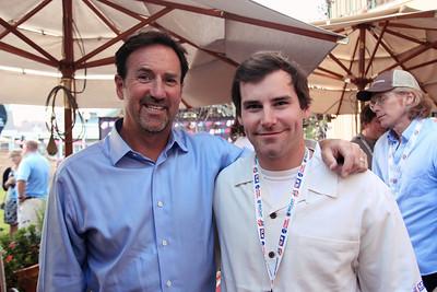Andy Wirth (Squaw Valley) with Nolan Kasper 2012 USSA Partner Summit, Park City, UT Welcome dinner at Butcher's Photo © Sarah Brunson/USSA