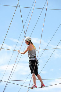 2012 Rookie Camp: Believe and Achieve Kiley McKinnon Ropes course at the NAC for team building. Photo: USSA