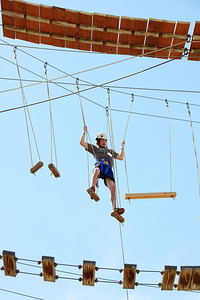 2012 Rookie Camp: Believe and Achieve Cody Tempel Ropes course at the NAC for team building. Photo: USSA