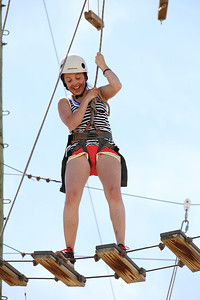 2012 Rookie Camp: Believe and Achieve Darian Stevens Ropes course at the NAC for team building. Photo: USSA