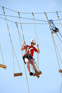 2012 Rookie Camp: Believe and Achieve Emilia Wint Ropes course at the NAC for team building. Photo: USSA