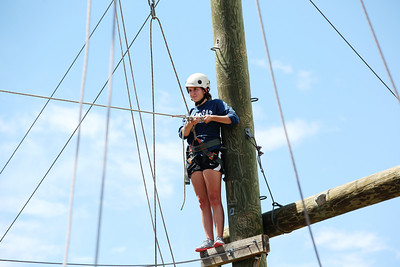 2012 Rookie Camp: Believe and Achieve Ropes course at the NAC for team building. Photo: USSA